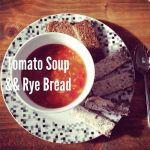 Tomato Soup and Rye Bread by DistortedSmile