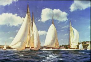 racing yachts by marine-artist-james