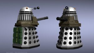 A Dalek with a minigun by Jim197