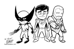 Kid Wolvie, Supes, and Iron Ma by SethWolfshorndl