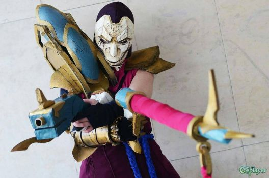jhin cosplay #2 by Mioponnu
