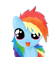 bed mane filly rainbow dash by Sharkiity