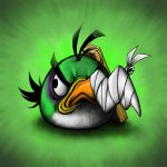 Green Angry Bird by Scooterek