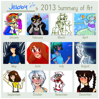 2013 Art Summary! by ama-je