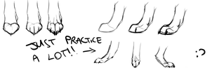 shortest realistic paws tutorial by Squishy-Pirate-Mutt