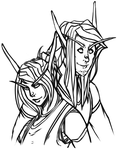Auvrea and Caedoran - Lines by Silverr-x