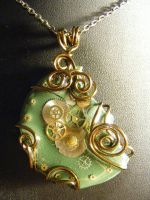 Steampunk in Green and Bronze by BacktoEarthCreations