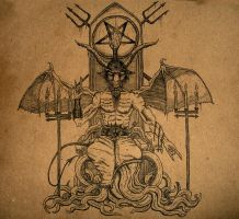 Baphomet Enthroned by Haldarn