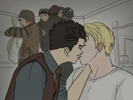 Howard Stark X Steve Rogers by takec