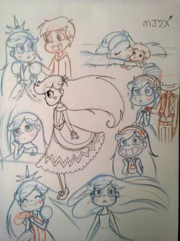 Sketches - Starco by MarionetteJ2X