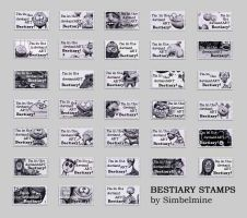Bestiary Stamps by Simbelmine by Windy999