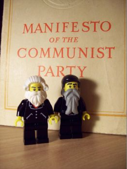 Lego Karl Marx and Friedrich Engels by LucifersLego