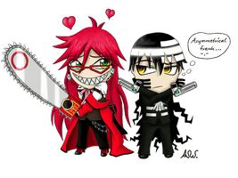 .:Two cute Shinigami:. by PinselTheExperiment