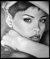 Rihanna Drawing by diamondnura