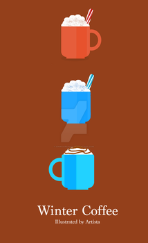 Winter Coffee Illustrations by anwaarsaleh