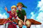 Zelda Skyward Sword Cloud Gazing by curry23