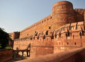 Agra Fort walls 1 by wildplaces