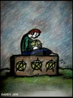 Four of Pentacles by Dandy-Jon