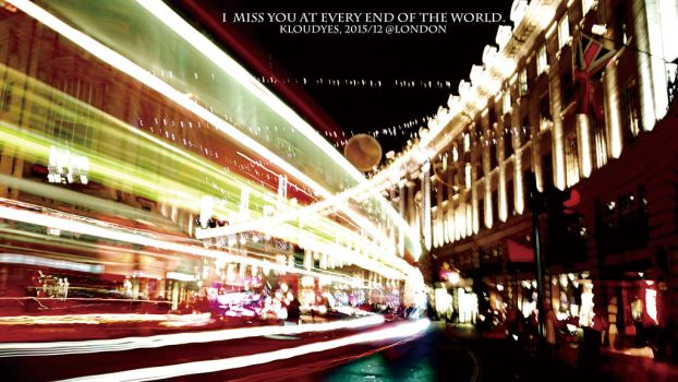 Christmas at Regent Street, London by Kloudyes