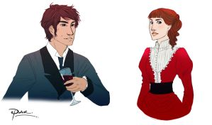 Tessa Gray and Will Herondale by palnk