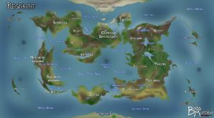 Regnacht World Map by Kayzig