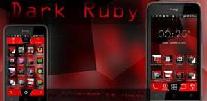 Dark Ruby Go Launcher Theme by moschdev