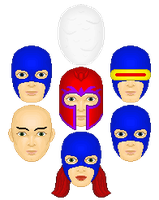 Original X-Men Heads from Issue #1 by shdwdrgn85