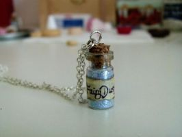 Fairy Dust Bottle Necklace by ViVoRiNo99