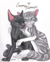 Crowpaw and Feathertail by MudstarMord-Sith