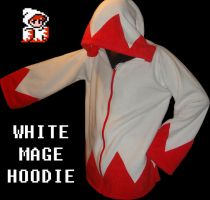 WHITE MAGE HOODIE FLEECE by HatcoreHats