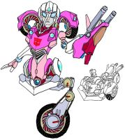 "Arcee ""Pink Motorcycle"" by Tyrranux"