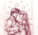 Tangled sketch by Gigei