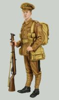 British Infantry WW1 1914 by timcatherall