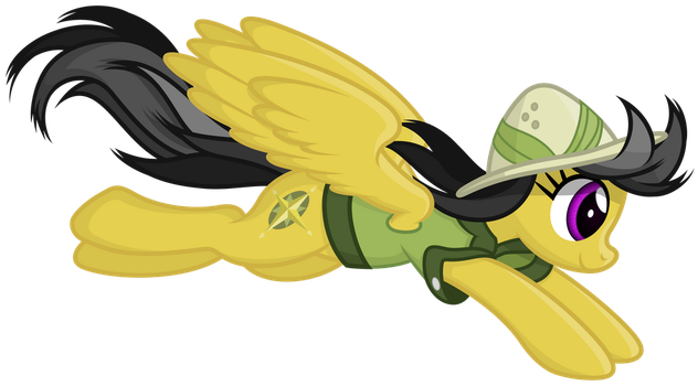 Daring Do leaping by Stabzor