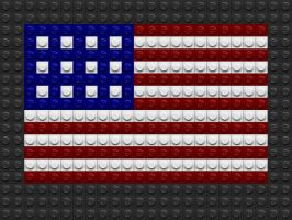 Lego US Flag by drsparc