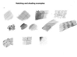 Shading and Hatching examples by Nigzblackman