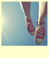 I'm walking on sunshine. by Amelia-Madeleine