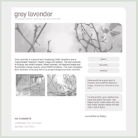 Grey Lavender Customizable Journal Skin by frisbii