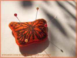 Felt Monarch Butterfly Pin Cushion by ImogenSmid