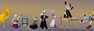 Happy 21st Final Fantasy by Typthis