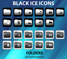 Black Ice Icons - Folders by musicopath