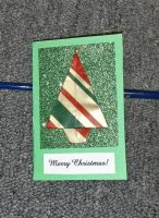 Stripe Tree Christmas Card by RinnG