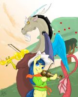 Discord went down to Equestria by DrizztHunter