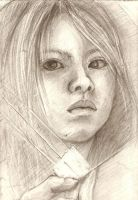 Graphite Self-Portrait by jia-jia