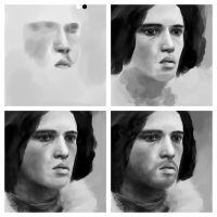 jon snow progression by thascorpion