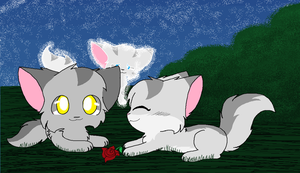 Graystripe and Millie by Ask-Stripestar