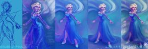 Elsa Progress by Chukairi