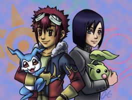 Daisuke and Ken - Digimon 02 by Valaquia