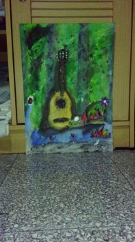 Simple Still Life Poster Colour Painting by DinoSatria-SA