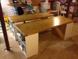 Tables for Legos, Arts, and Crafts by FeroceFV